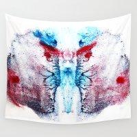 rorschach Wall Tapestries featuring Rorschach Sphinx by Alexandrea & Matt