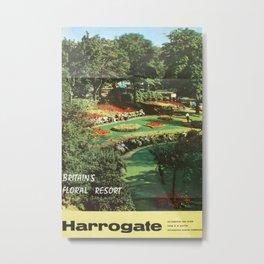 Harrogate Vintage Travel Poster Metal Print