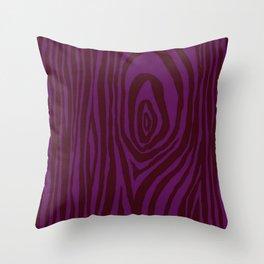 Purple Wood Grain Throw Pillow