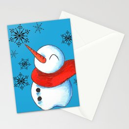 Snowmen and Snowflakes Stationery Cards