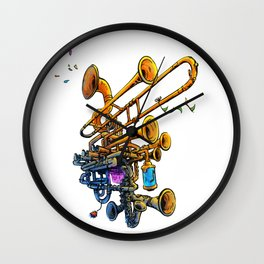 Music Brass Machine Wall Clock