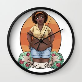 Fat and Fab Wall Clock