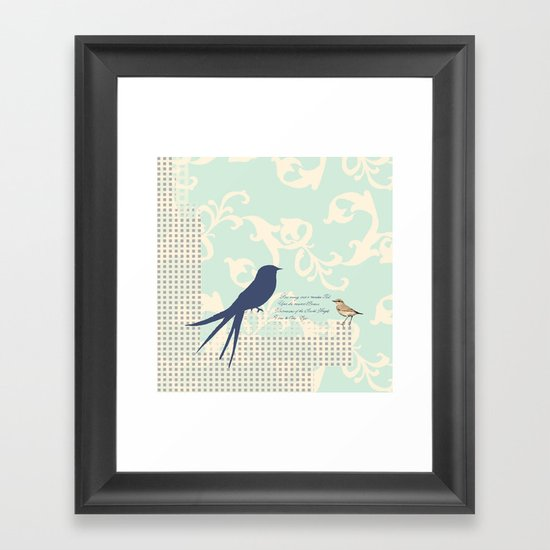 Upon the Nearest Breeze - Blue Framed Art Print