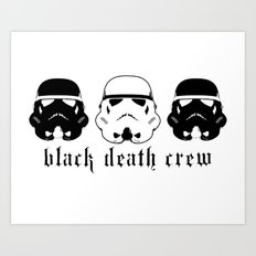 Black Death Crew Buckets Art Print