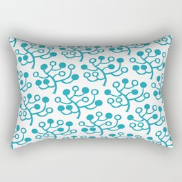 Mid Century Modern Berries Pattern turquoise Rectangular Pillow
