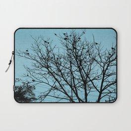 Blue Birds Silhouette Laptop Sleeve
