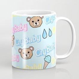 CRY BABY PRINT- PASTEL BLUE Coffee Mug
