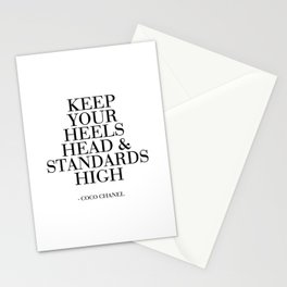 Keep Your Heels,Head And Standards High Printable Art Fashion Wall Art Fashion Decor Fashion Print Stationery Cards