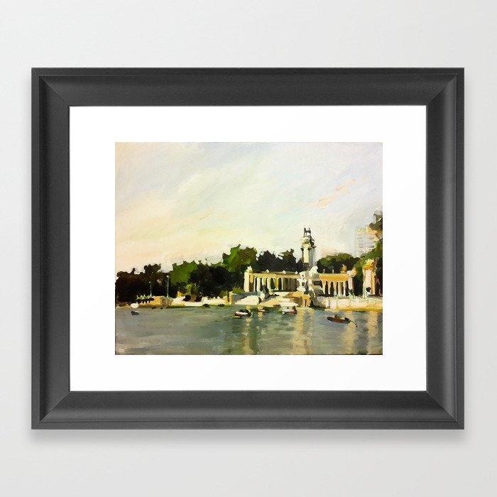 The Lake at Buen Retiro Park Gerahmter Kunstdruck