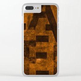 Lager Beer Typography Clear iPhone Case