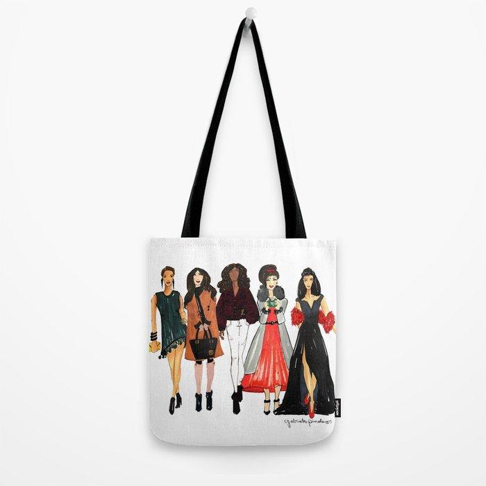 Glam Girls, Pinales Illustrated Tote Bag