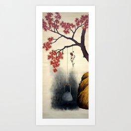 Shibata Zeshin - Autumn Maple, Shiitake Mushroom, Kettle - Digital Remastered Edition Art Print