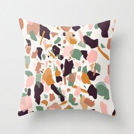 Terrazzo Print Throw Pillow