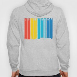 Retro 1970's Style Burlington Vermont Skyline Hoody