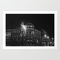 moscow Art Prints featuring Moscow by Arnochitects