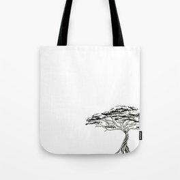 Whistling Thorn , Zen Bonsai African Tree Tote Bag