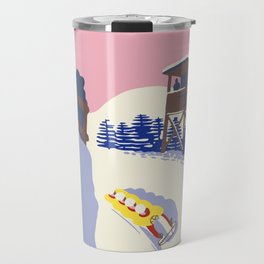 Lake Placid Olympic bobsled run Travel Mug