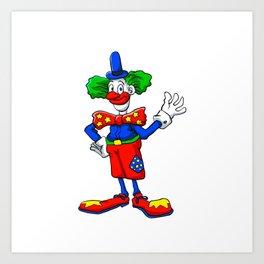 clown cartoon Art Print