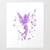 tinker bell Art Prints featuring Tinker Bell Disneys by Carma Zoe
