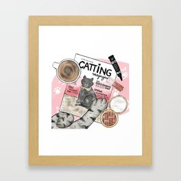 Monday Morning Essentials - featuring Catting Magazine, Spring 2018 Framed Art Print