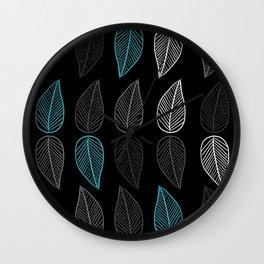 Turquoise Leaf Wall Clock