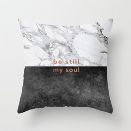Be Still My Soul Copper Throw Pillow
