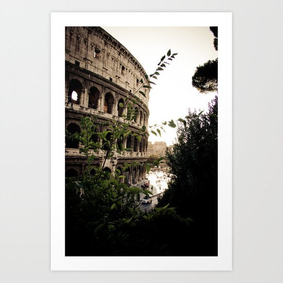 the collosseum Art Print