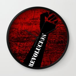Fist Revolution Wall Clock