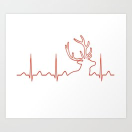HUNTING HEARTBEAT Art Print