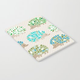Hedgehog polkadot in green and blue Notebook