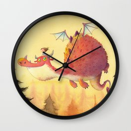 THE LITTLE GIRL AND THE DRAGON Wall Clock