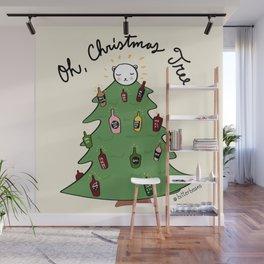 Xmas Tree + Me = Lit Up! Wall Mural