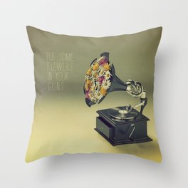 put some flowers in your guns Throw Pillow