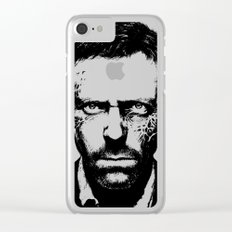 House MD Zombie Portrait Hugh Laurie Clear iPhone Case