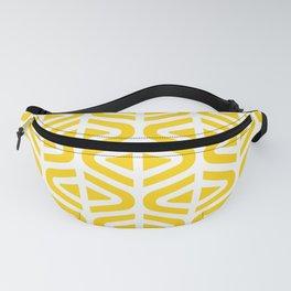 Mid Century Modern Split Triangle Pattern Yellow Fanny Pack