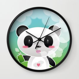 Vapers are Welcome (panda edition) Wall Clock