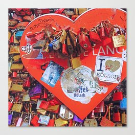 Locked in Love Canvas Print