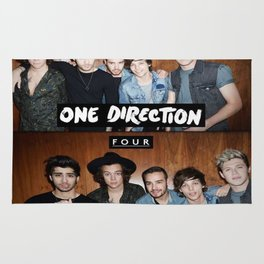 "One direction ""four"" album cover Rug"