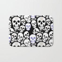 Small Tiled Skull Pattern Bath Mat