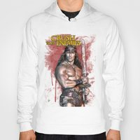 conan Hoodies featuring Crush your enemies by Lady Rat