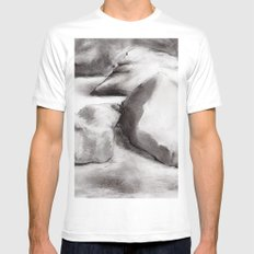 Ash MEDIUM Mens Fitted Tee White