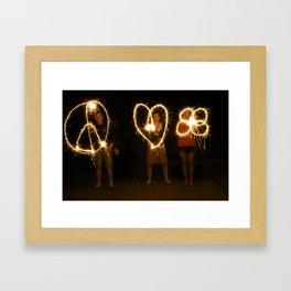 peace love camp Framed Art Print