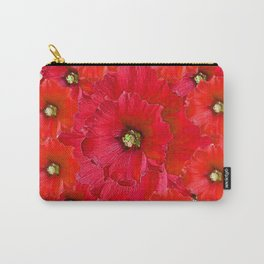 AWESOME RED FLOWERS BOUQUET PATTERN ABSTRACT ART Carry-All Pouch