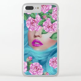 Lady with Camellias Clear iPhone Case