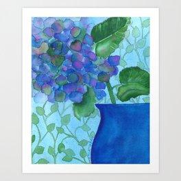 Cobalt Hydrangea Art Print