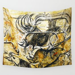 Panel of Rhinos // Chauvet Cave Wall Tapestry