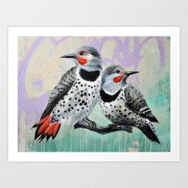 Northern Flickers Art Print