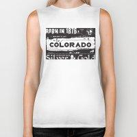 colorado Biker Tanks featuring Colorado by To Be Colorado