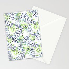 Delicate leaves . 2 Stationery Cards
