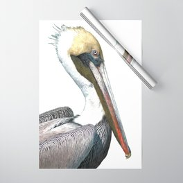 Pelican Portrait Wrapping Paper
